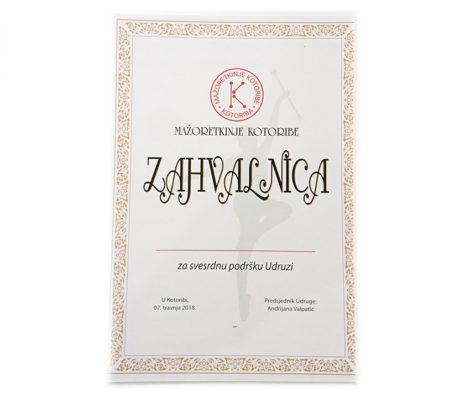 Diplome / Zahvalnice - print i Okviri
