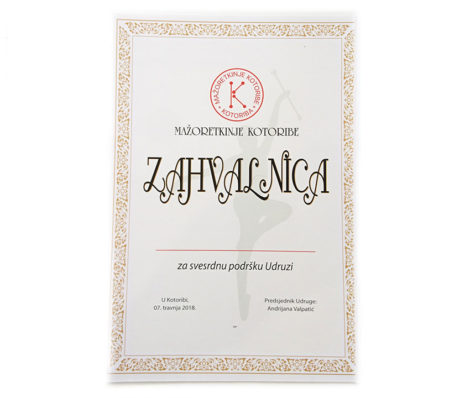 Zahvalnica / Diploma A4